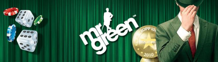Mr Green Casino Logo mit Würfeln